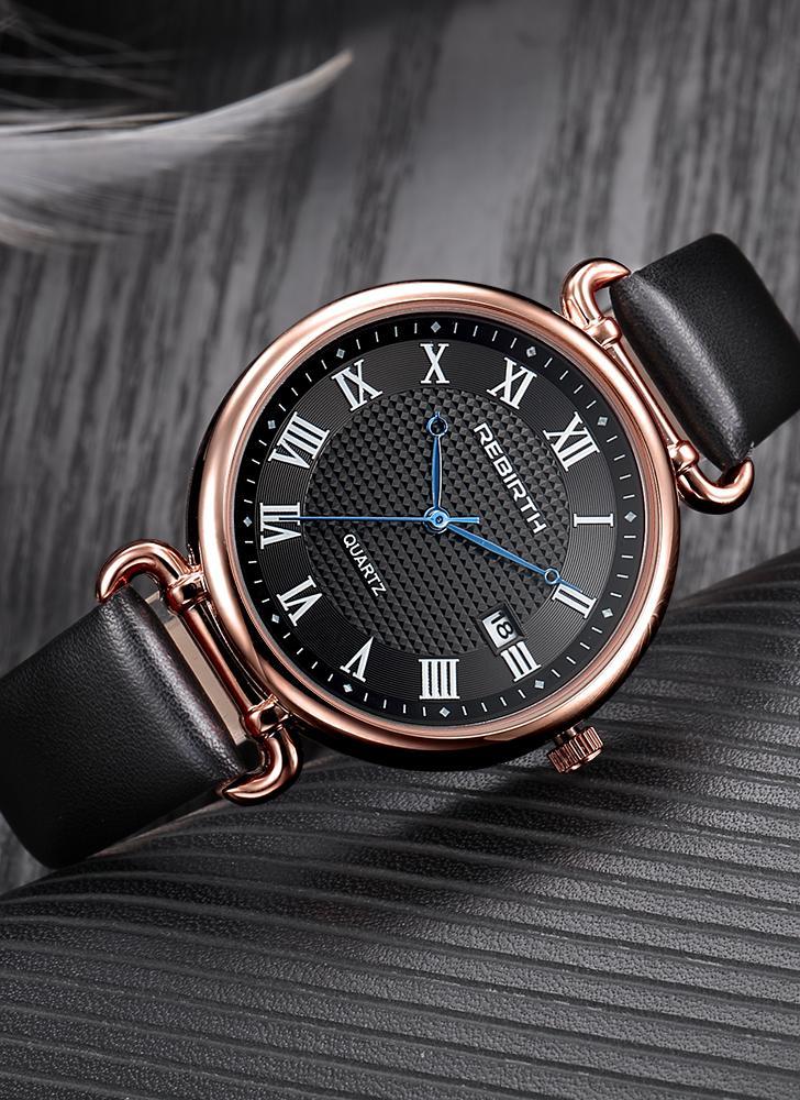 REBIRTH Fashion Women Watches 1ATM Cuarzo resistente al agua Casual Simple Mujer Reloj de pulsera Relogio Feminino