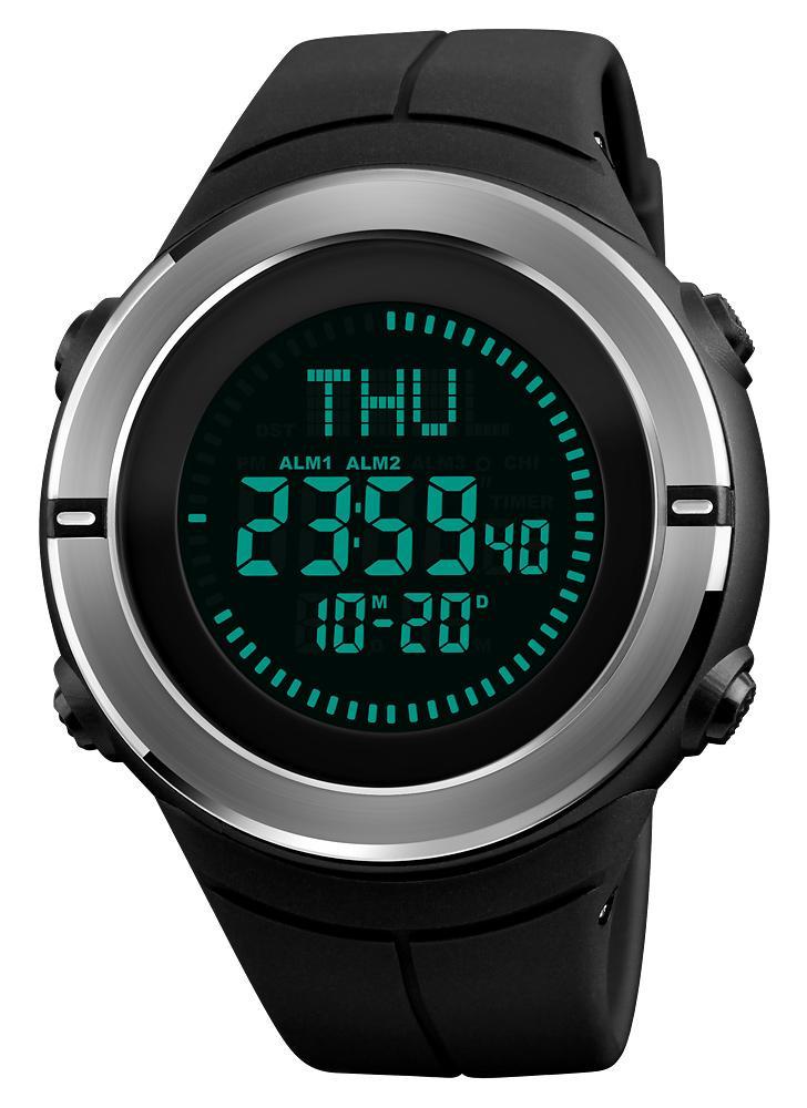 0bd86a13f45 SKMEI 5ATM E-Compass resistente à água LED Relógio eletrônico Esportes ao  ar livre Relógios