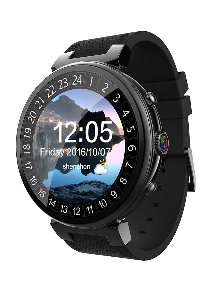 Android 5.1 3G Smart Watch Phone 1.3GHz Quad-core CPU 512M RAM & 8GB FLASH Support Nano SIM Card 1.3inch TFT Touch Screen BT 4.0 GSM & WCDMA WiFi GPS Camera Pedometer Heart Rate Genuine Leather Smartwatch for Android 4.4 & iOS 9.0