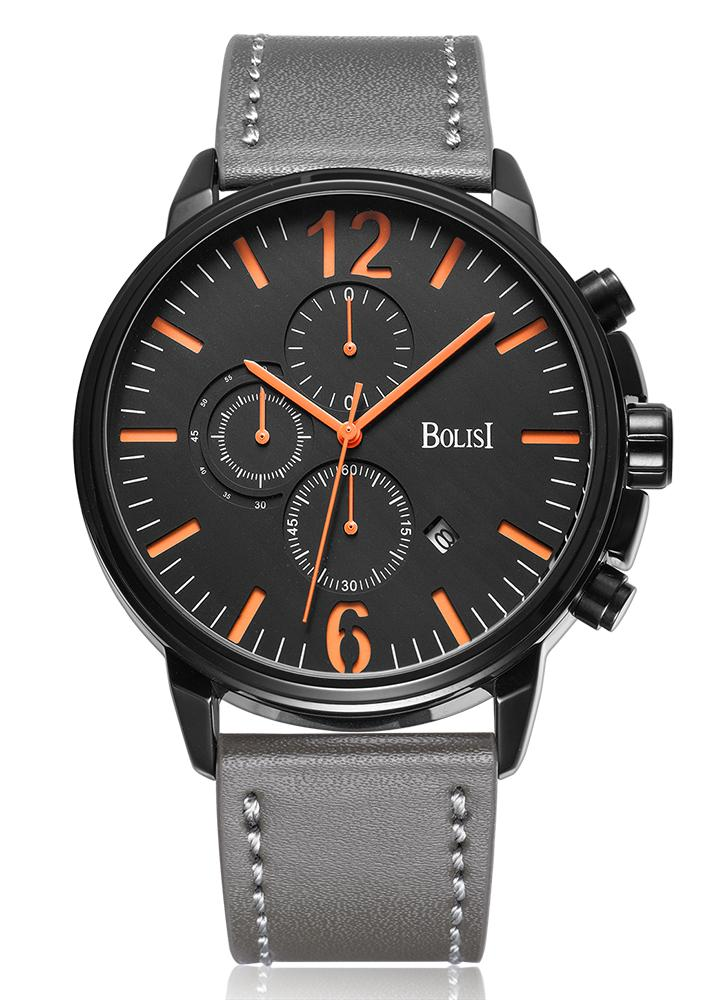 Bolisi Fashion Casual Quartz Watch 3ATM montre homme résistant à l'eau