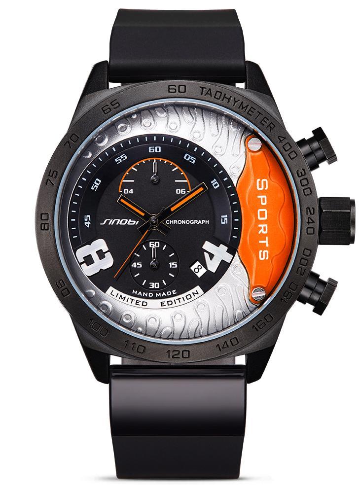a13f28ee422 SINOBI 3ATM relógio resistente à água relógio de quartzo relógio homens  relógios de pulso