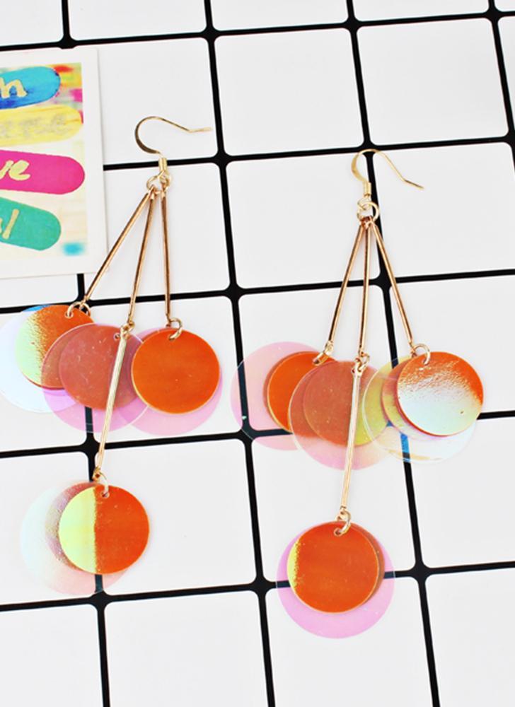 Fashion Exaggerated Bohemian Style Glitter Paillette Earrings Women All-match Jewelry