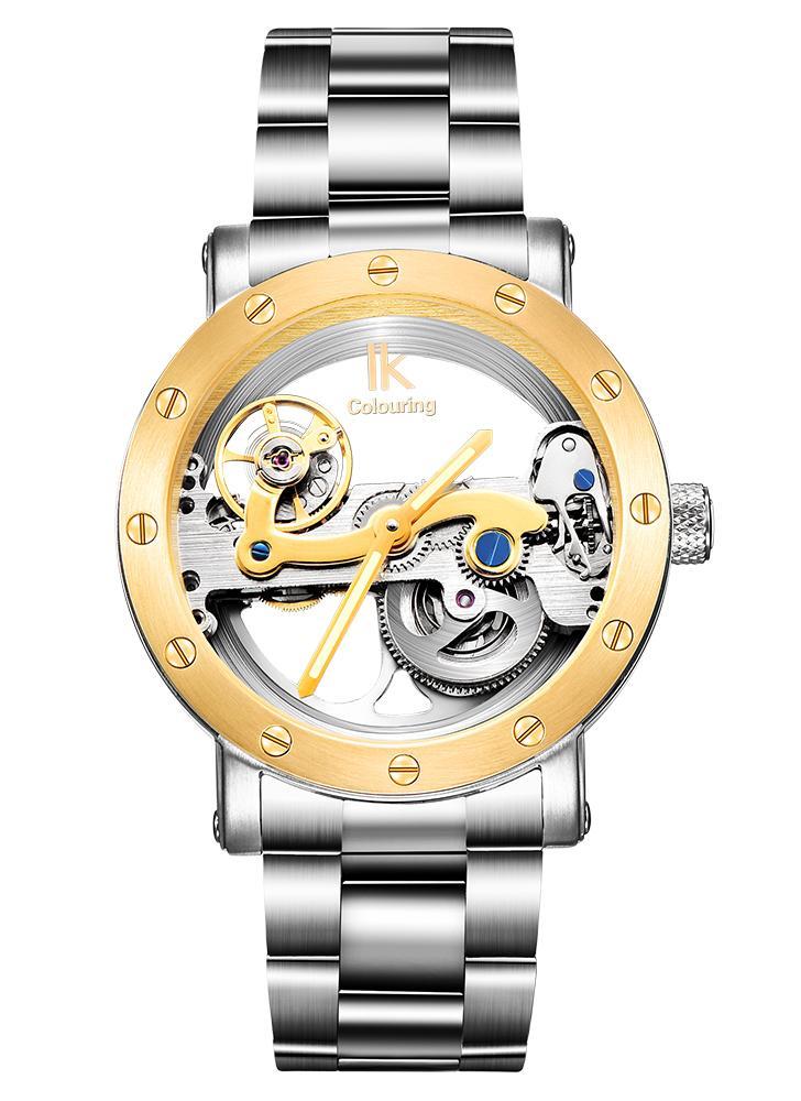 8fccb032ecb IK CORANTES Homem de luxo auto-enrolamento automático relógio mecânico 5ATM  resistente à água de