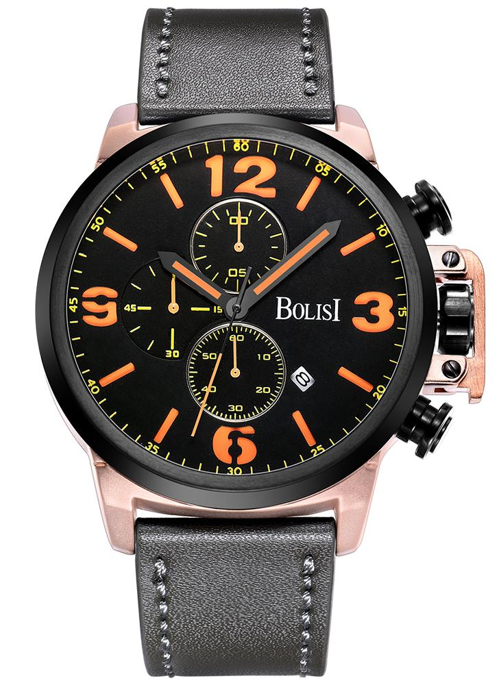 Bolisi Fashion Casual Quarzuhr 3ATM wasserdicht Herrenuhr