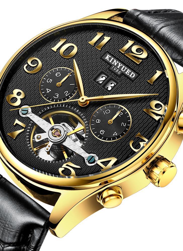 KINYUED Business Watch 3ATM wasserfeste automatische mechanische Uhr