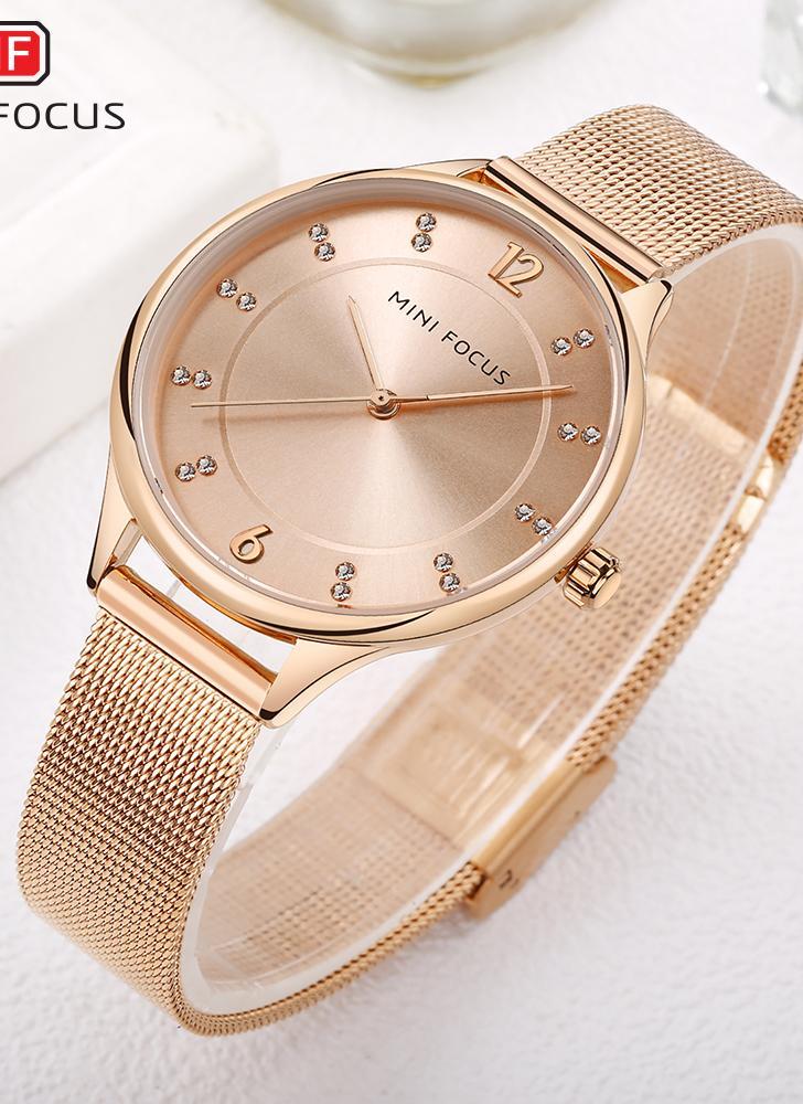 Reloj MINI FOCUS Fashion Luxury de acero inoxidable para mujer 9c896c1b8504