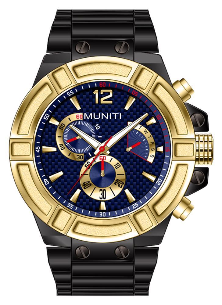 MUNITI Fashion Sport Men Watch Reloj de pulsera de hombre luminoso de cuarzo resistente al agua