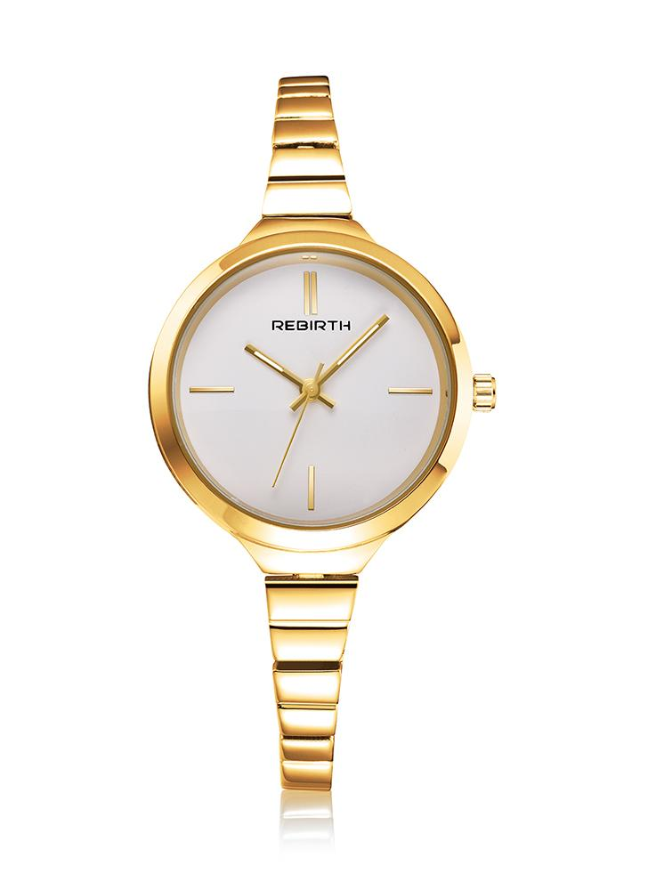 REBIRTH Fashion Luxury Quartz Women Casual reloj de pulsera a prueba de agua para mujer reloj de mujer Feminio Relogio