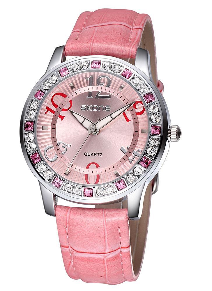 19dd1524ede Vindima alta qualidade moda quartzo relógio Bling-bling Rhinestone  incorporado mulheres elegante relógio