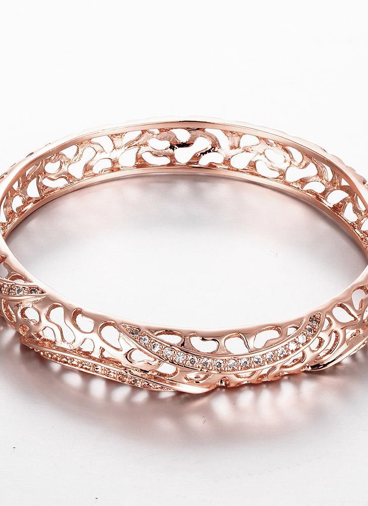 Fine Jewelry Girls 10K Gold Over Brass Bangle Bracelet g0secS