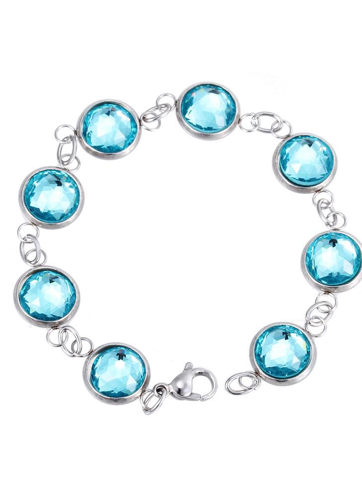 Torsion de chaîne Bracelet en cristal artificiel 316L titane acier femelles maniaques tendance bijoux décorations