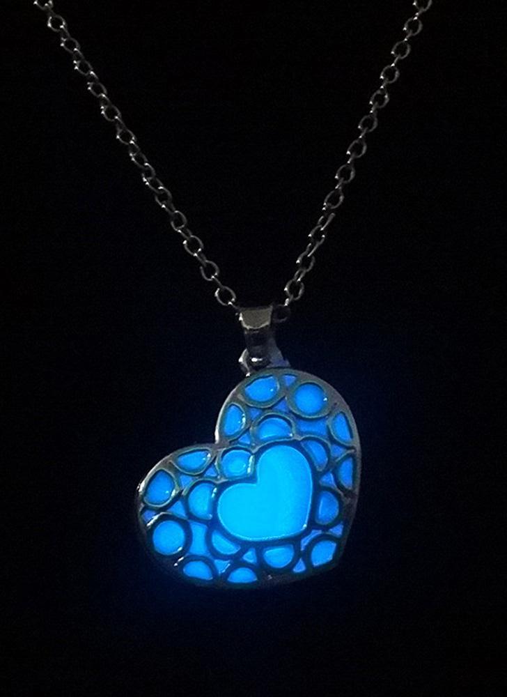 blau Messing Metall-Legierung Halsband Halskette leuchtende Nacht ...