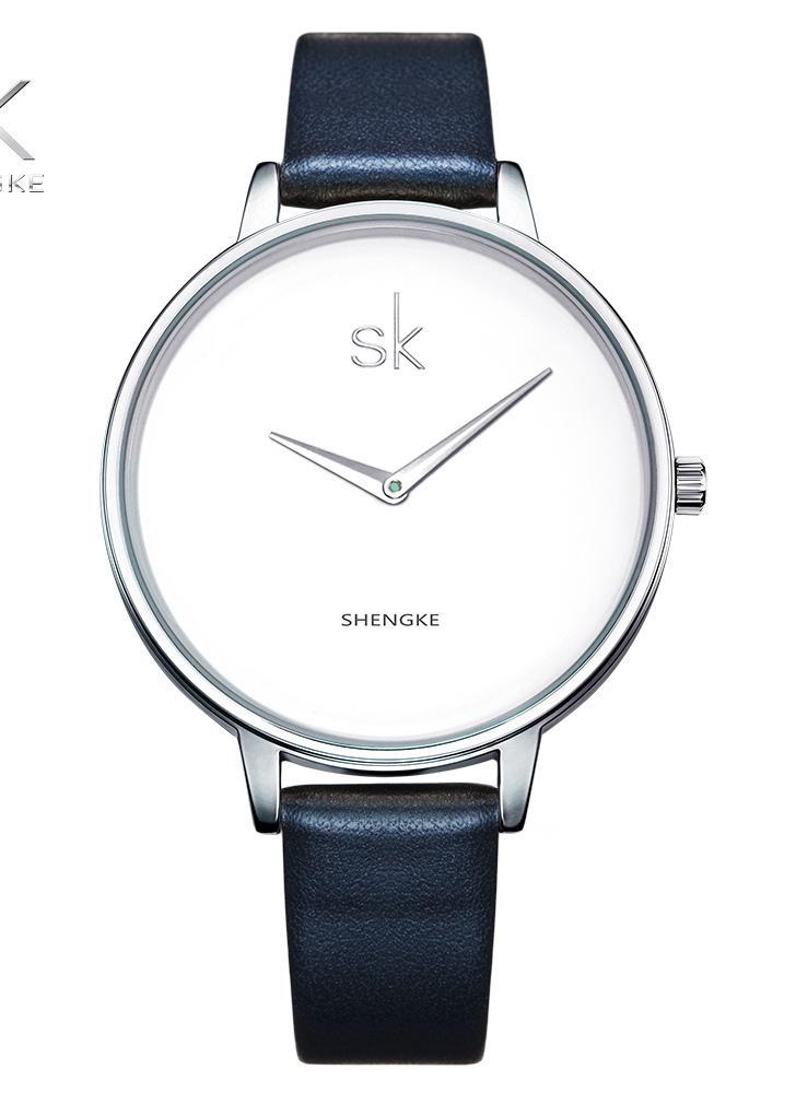 de49464e69d SK 2017 Moda Simplicidade Quartz Casual Relógio de pulso resistente à água  PU Strap relógios femininos