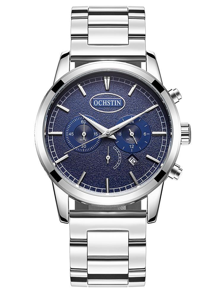 2826b6e0e7f OCHSTIN relógio de água de luxo de aço inoxidável de luxo para homens de  negócios