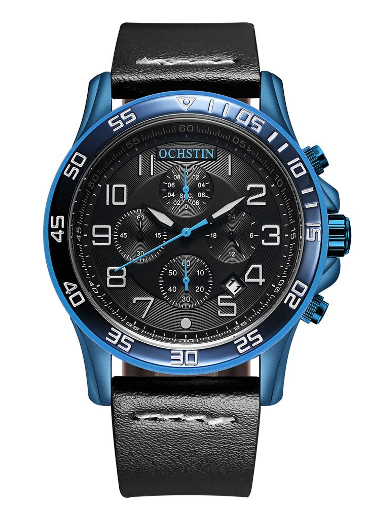 OCHSTIN Fashion Luminous Military Style Quartz Men Relógio de pulso