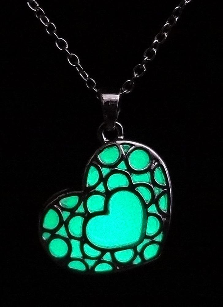 grün Messing Metall-Legierung Halsband Halskette leuchtende Nacht ...