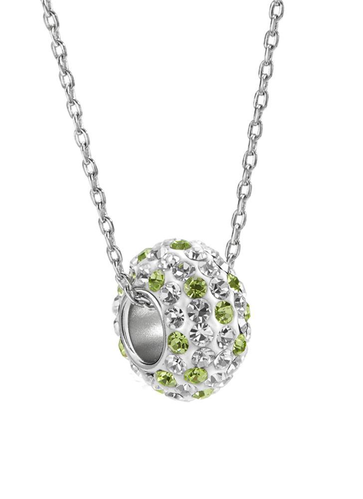 925 piedra único de la plata esterlina de la manera collar de cristal colgante del Rhinestone joyería de la cadena de accesorios para la Mujer regalo de las muchachas