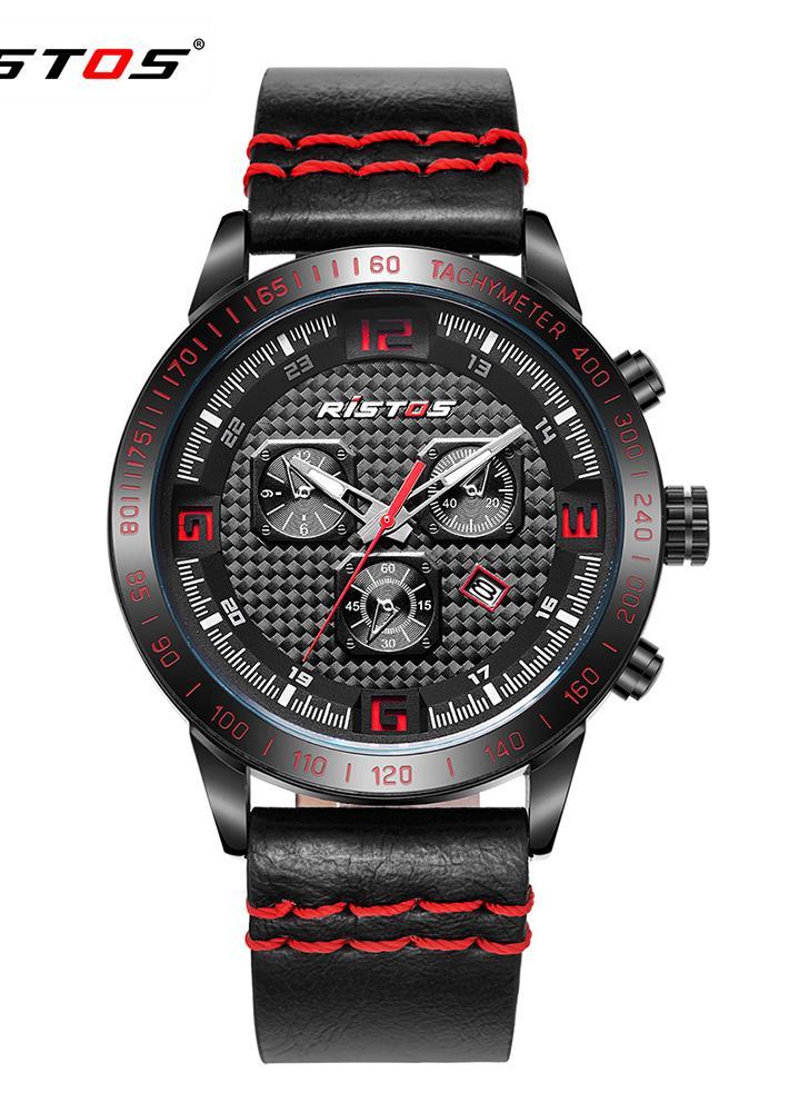 RISTOS 3ATM reloj deportivo resistente al agua hombres relojes de cuarzo