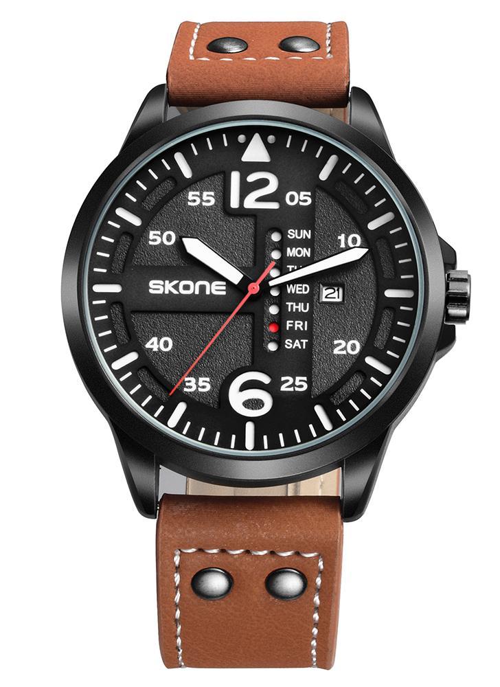 SKONE Модные повседневные кварцевые часы 3ATM Водонепроницаемые часы
