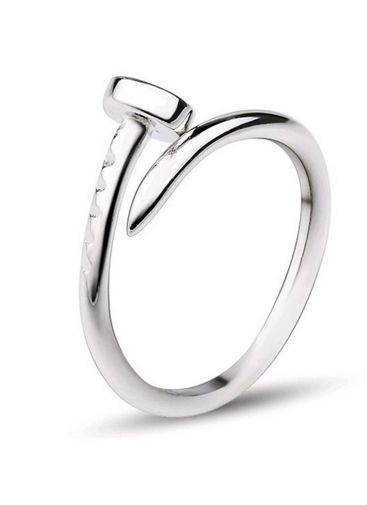 Persönlichkeit Schraube Nagel S925 Sterling Silber Ring Schmuck  Modeaccessoire für Lady Girls Frauen 2de9cc6ae4