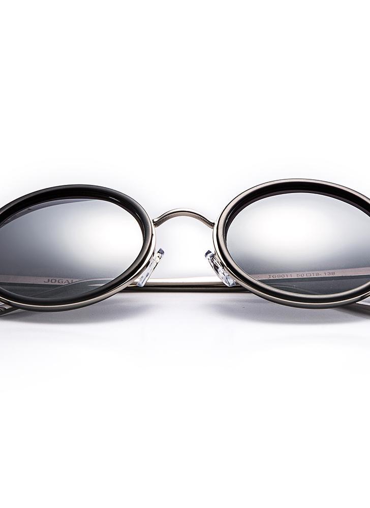 JOGAL Classique Vintage Retro Nouveau cadre en métal Lunettes de soleil  Lunettes de soleil Conduite UV400 313f9800b038