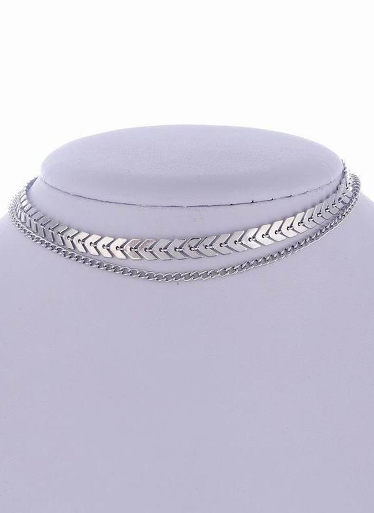 Collar de gargantilla de plata de la cadena de color simple oro para mujeres collar de gargantilla regalo de la joyería