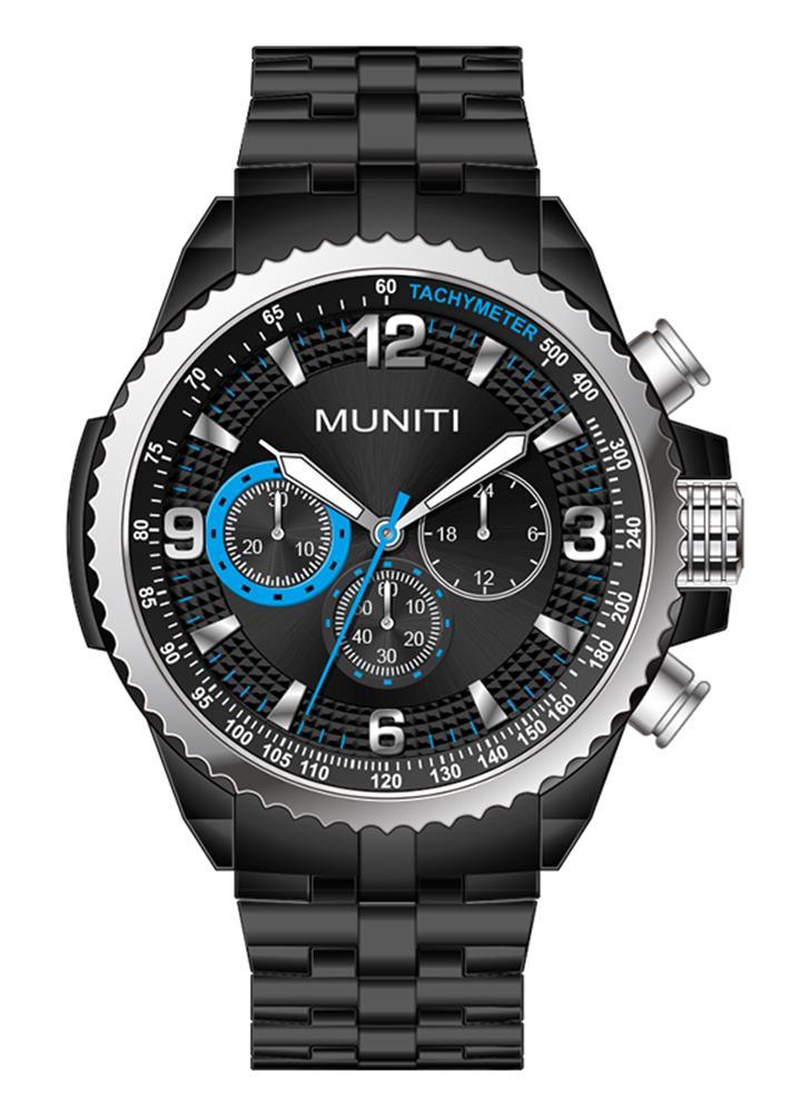 MUNITI Mode Sport Hommes Montrez La Vie Montre-Bracelet À Quartz Lumineux Etanche À L'eau