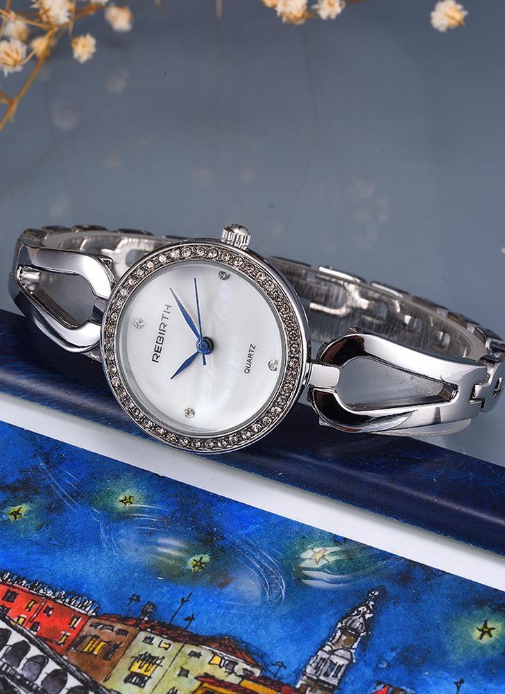1cc89318ce1 REBIRTH Moda Luxo Quartz Mulheres Relógio de pulso casual Relógio à prova  de água Feminino Feminino