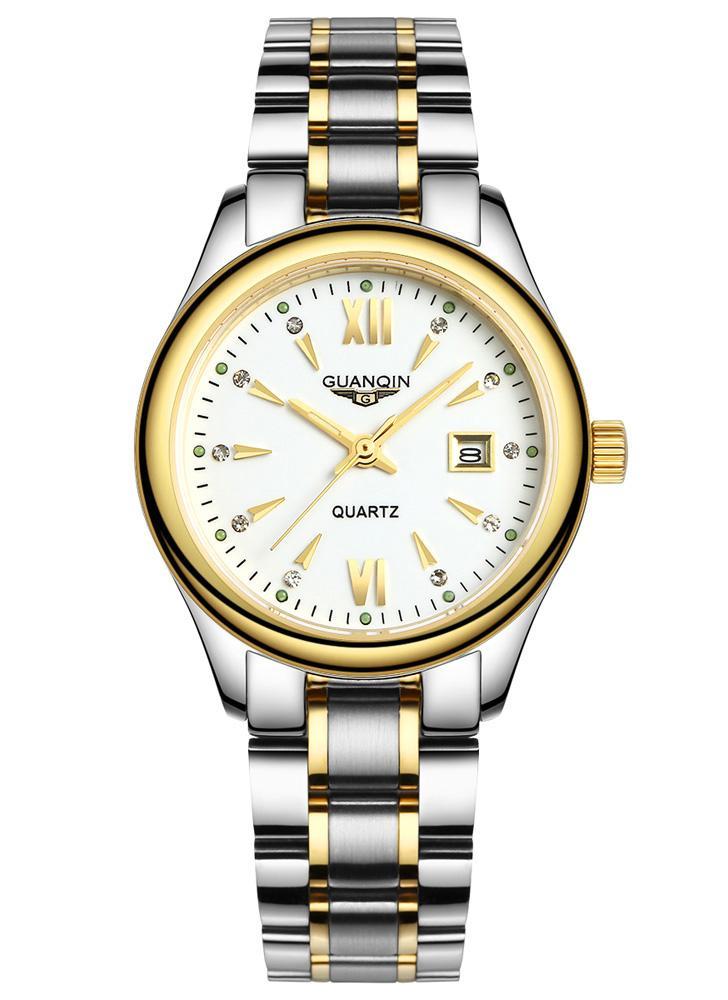 25bbbcc58ef GUANQIN 2016 moda feminina luxo relógios pulseira aço relógio impermeável  luminosos ultrafinos relógio de pulso para