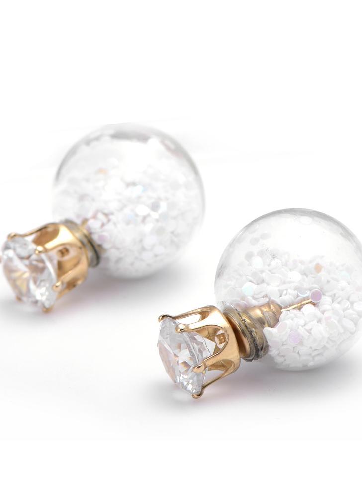 1 Paire femme fashion élégant Cristal Strass Perle Oreille Clous D/'oreilles Bijoux