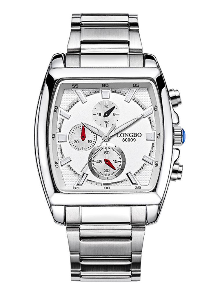0f5e2d81c38 Longbo Marca Moda Quartz Relógio de pulso Casual Luxury Retângulo Relógios  Homens Alloy Relógios Pulseira Relógio