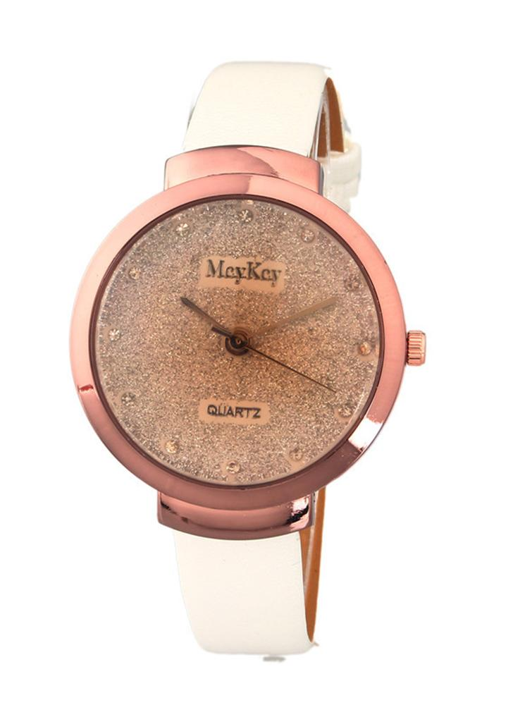 Trendy Watch for Women Quartz Gold Surface Fantasy Stars Cristaux Montre