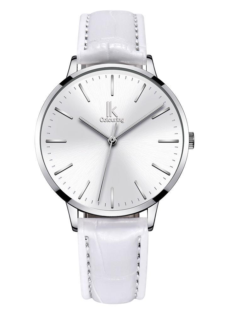 3fa7782d260 IK Coloring Moda Mulher Relógios Quartz 1ATM impermeável Casual Woman  Relógio de pulso Relogio Feminino