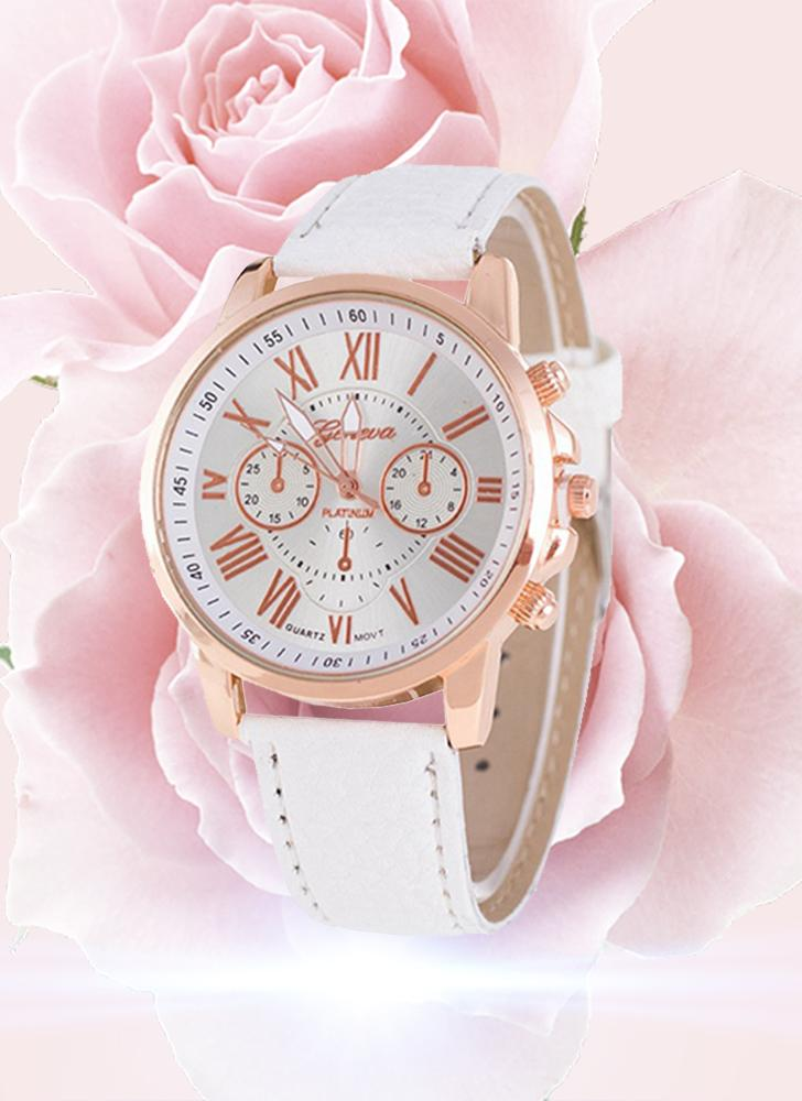 Moda de lujo PU Leather Quartz Women Watches Vintage Style Lasies Casual reloj de pulsera Feminio Relogio