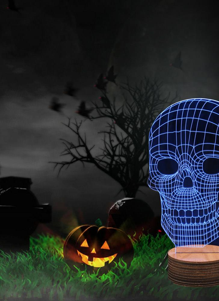 3d optical illusion led table night light usb desk lamp for halloween party