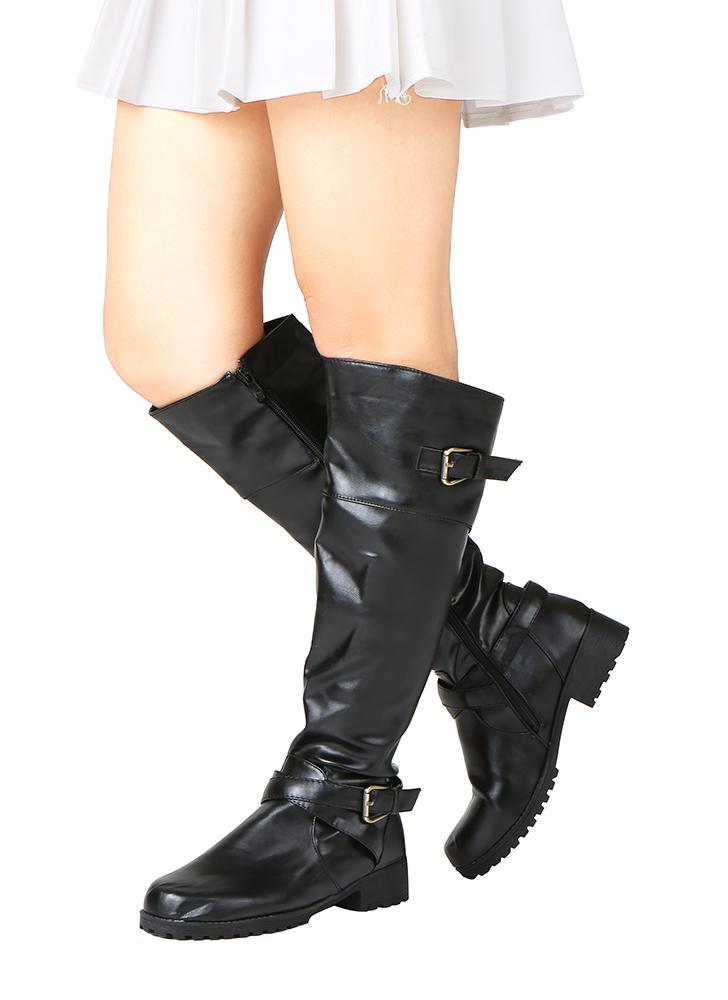39 nero Stivali Stivali Stivali da donna in pelle opaca con punta rotonda e metà   3e3e4b