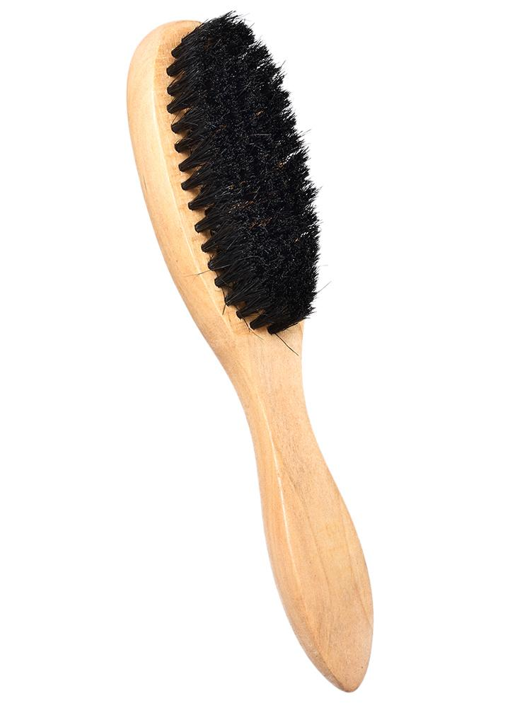 Men's Beard Brush Wooden Hair Brush Boar Bristle Wood Handle Shaving Brush Wooden Beard Comb