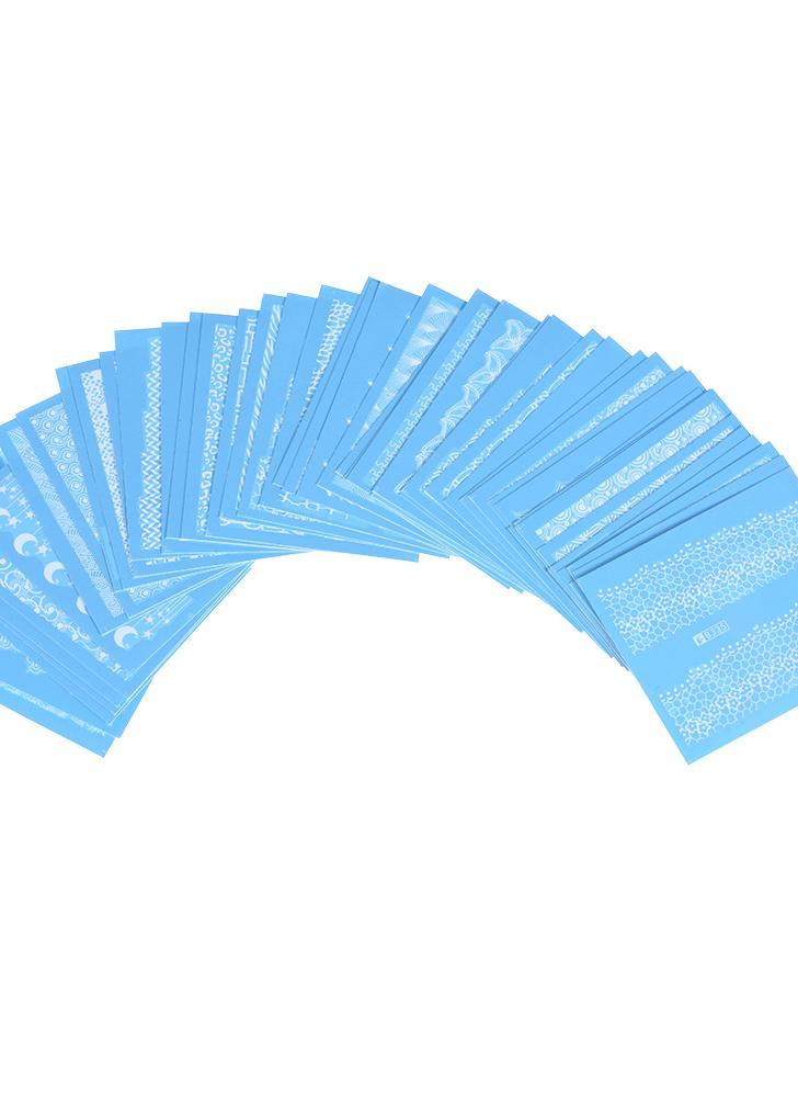 48 bltter nail sticker set gemischte muster nagel papier spitze nail art styling set diy wasserzeichen - Nagel Muster