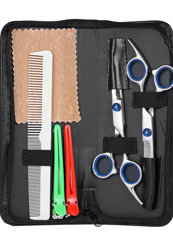 Professional Hair Cutting Scissors Set Barber Shears Hair Thinning Kit Salon Home Parrucchiere