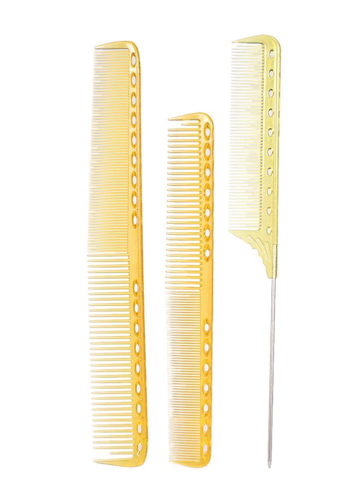 3pcs peluquería peine del salón peluquería peine del corte peine de corte de pelo de plástico peine de peluquería profesional peine