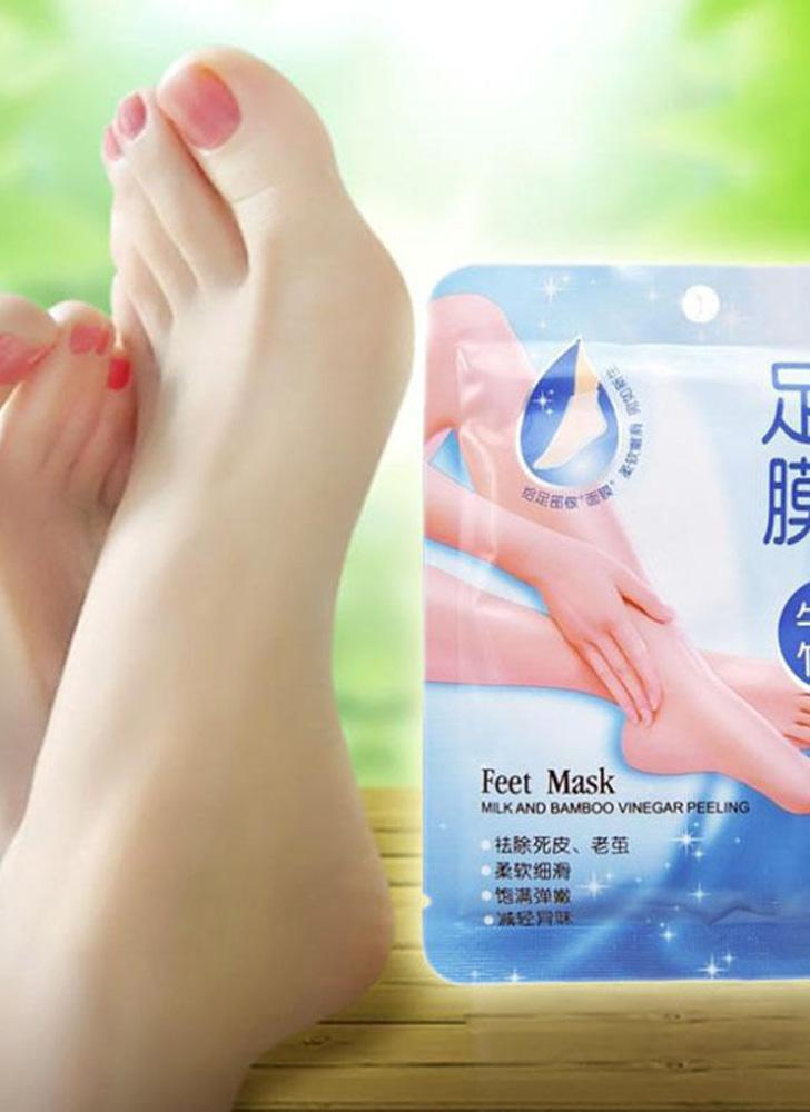 1 Pair Comfort Exfoliating Peel Foot Masks 2Pcs Baby Soft Feet Remove Scrub Callus Hard Dead Skin Bamboo Vinegar Feet Care For Pedicure Sosu Socks