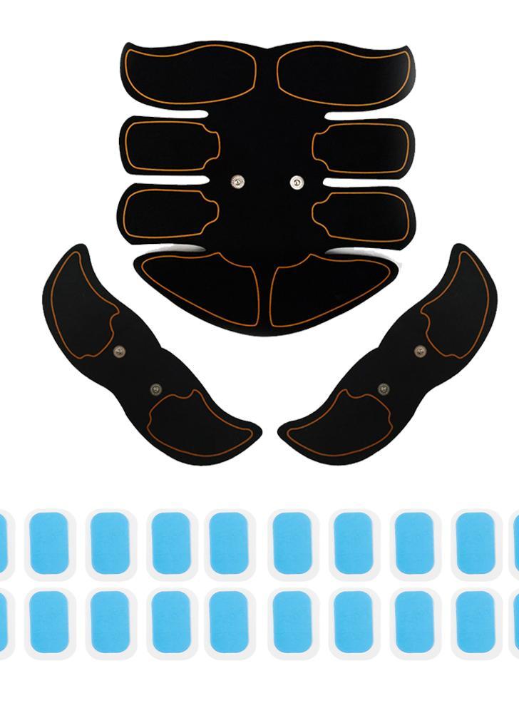 Black Surface Yellow Edge Smart Fitness Kit Electroestimulador eléctrico abdominal de la máquina de mano Estimulador ABS EMS Trainer Fitness Body de pérdida de peso adelgazante