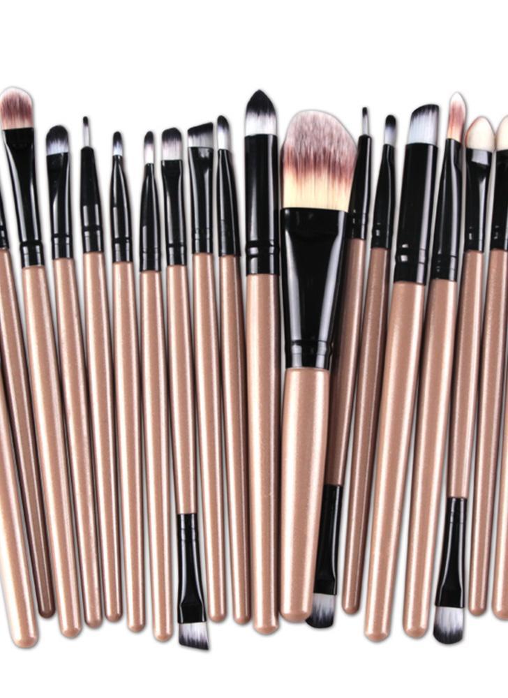 12 20pcs professional eye shadow foundation eyebrow lip brush makeup brush tools toiletry kit. Black Bedroom Furniture Sets. Home Design Ideas
