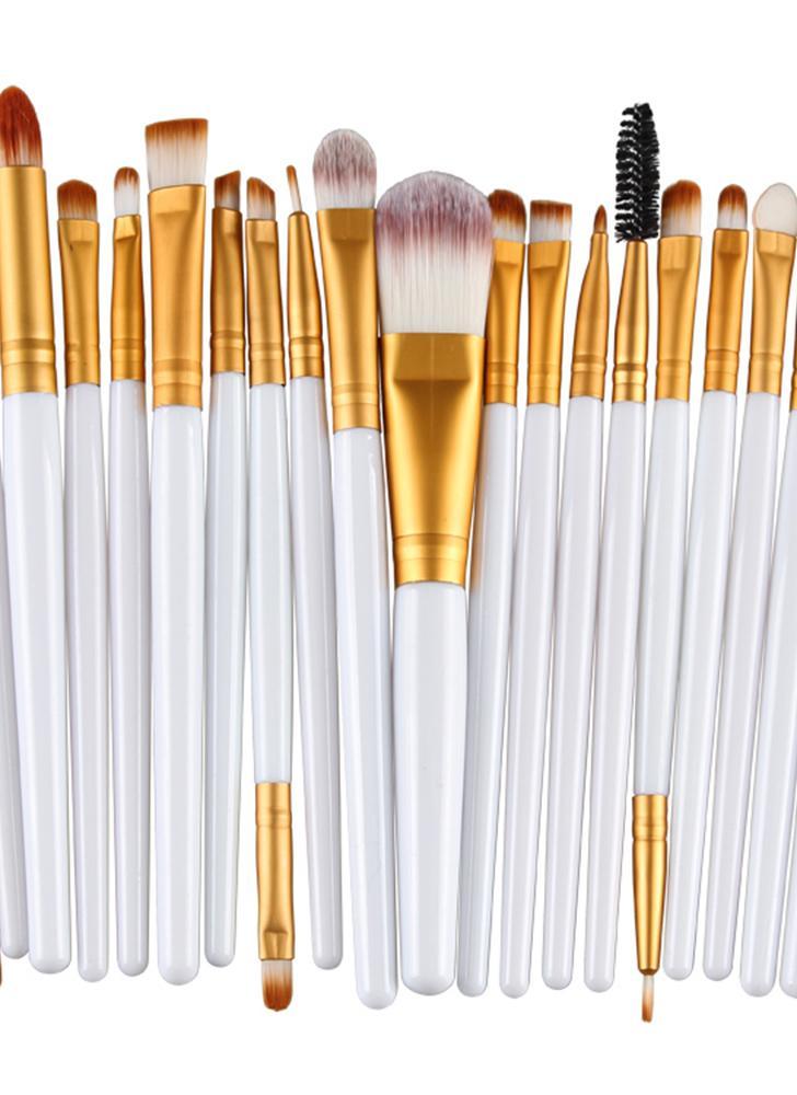 20PCS Profesional ceja sombra ceja cepillo labial maquillaje cepillo herramientas kit de tocador lana diseño Pinceau Maquillage Professionnel