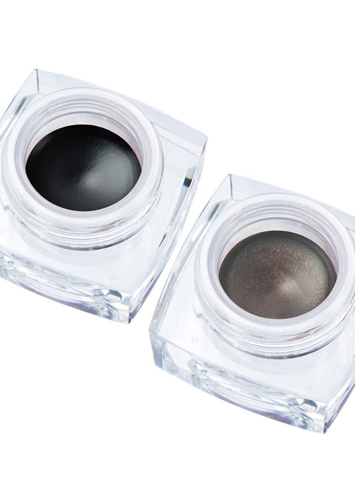 Huamianli arc-en-ciel nuage eyeliner imperméable longue durée Eye Liner Gel crème maquillage cosmétiques avec 2 brosses