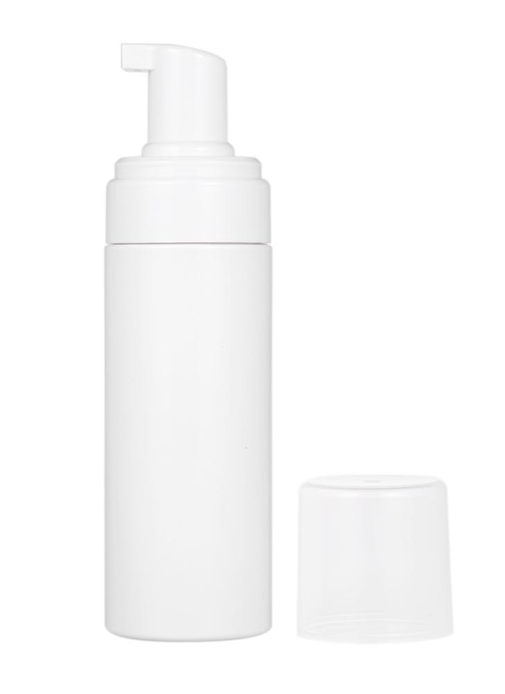 1pc 150ML (5.2oz) Botella de Espuma Jabón de Mousse Botella de Bomba de Espuma Plástico Blanco Vacío Recargable de Viaje Portátil