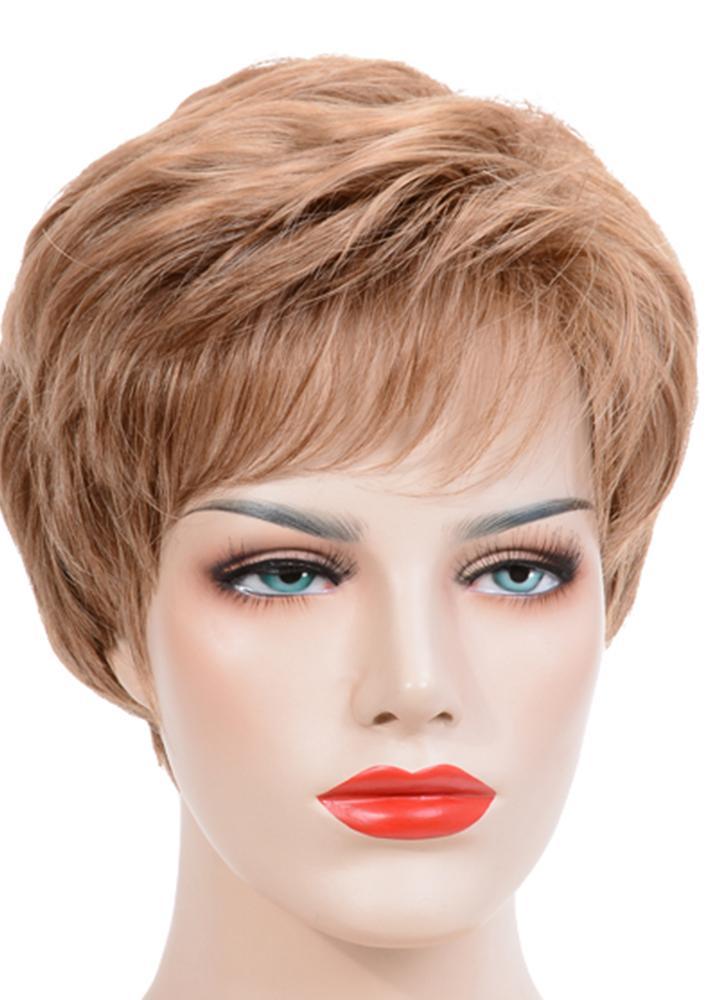 Modische Haar Perücke Frau Kurze Glatte Haare Mit Pony Mädchen Haarteil Haarverlängerung Hitzebeständig Frauen Mädchen Cosplay