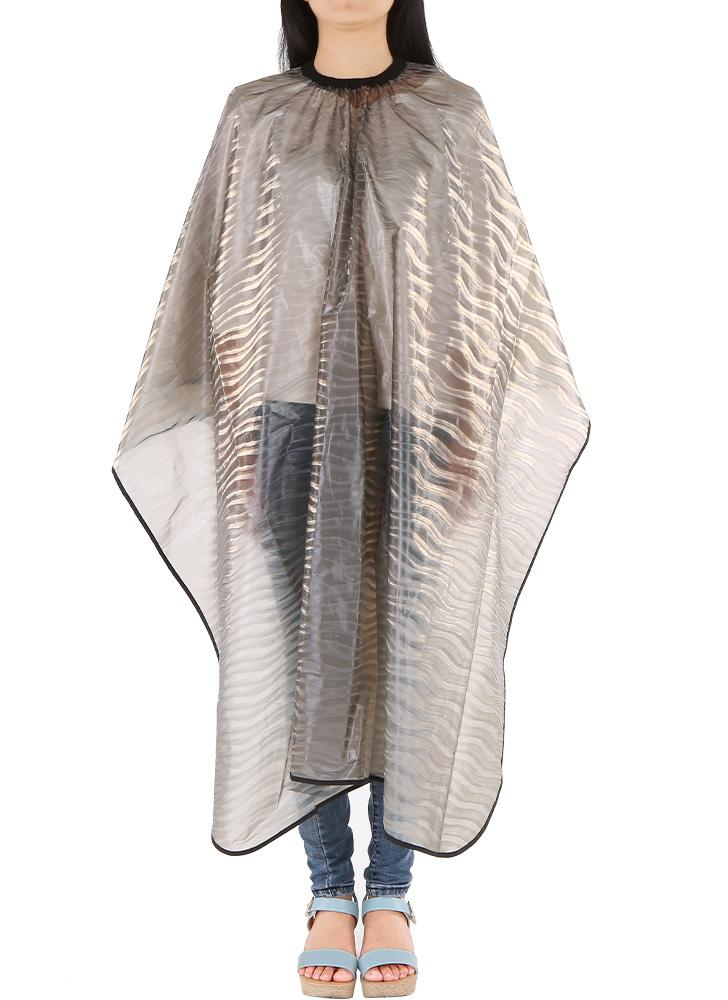 Peluquería a prueba de agua delantal de tela de pelo del cabo del corte del pelo Champú del vestido del colorante de teñido de tela de peluquería Perming Cabo