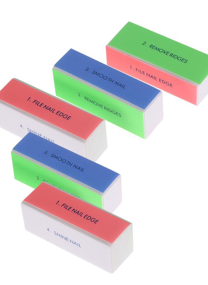 5pcs Limes Art Nail Buffer Bloc de polissage Outil manucure dossier professionnel Nail Shiner Nail Salon outil