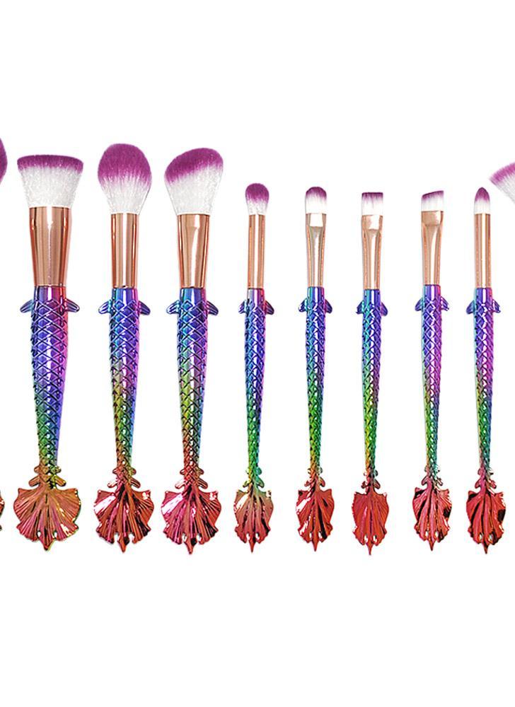 Set de pincéis de maquiagem de moda 10Pcs Set